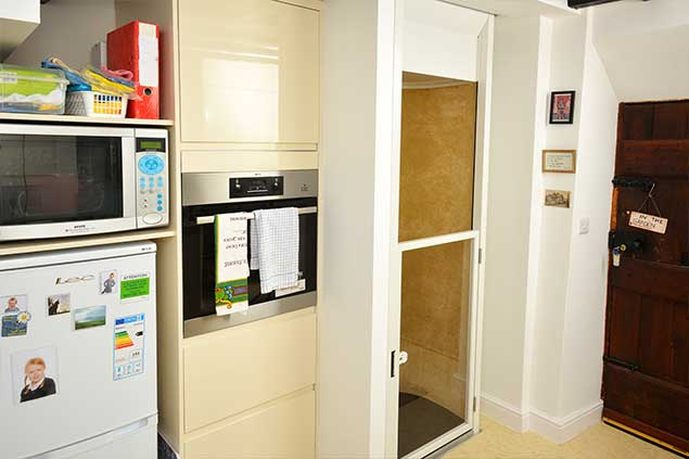 Stiltz Home Lift in the Allen's kitchen