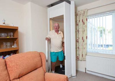 To the rescue: Bromsgrove man gets a Stiltz Home Lift after Fire Brigade stairlift breakdown drama